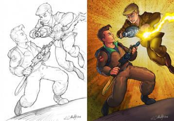Ghostbusters vs. Real GB by Jukkart