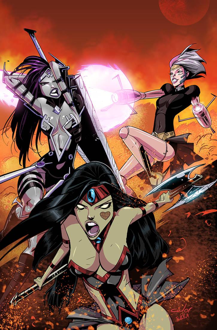 Danger Doll Squad Galactic Gladiators #3 cvr color