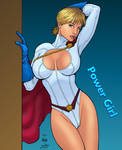 Power Girl Coloured