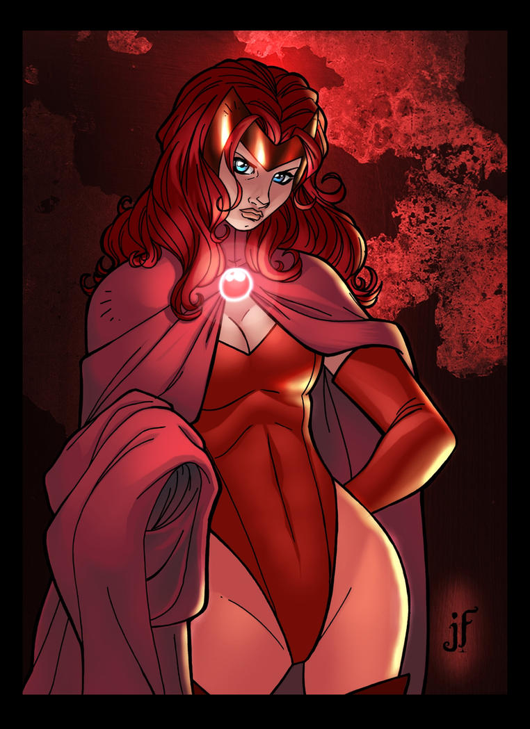 Jamie's Scarlet Witch Coloured by Jukkart