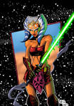 Ahsoka Tano (Star Wars Comic Book Art)