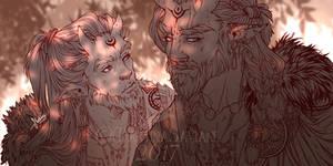 1st of 2017_ Fantasy warriors by MartinaSaviane
