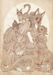 Baker Witch and her little apprentice- Doodle by MartinaSaviane