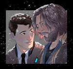 Hank and Connor_Detroit: Become Human