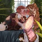Elf and Faun (oc)