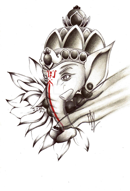 Commission #5: Ganesh Tattoo. by pensierimorti on DeviantArt