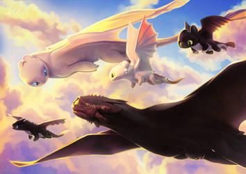 Family Flight by Hija-Jiyangi