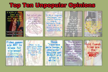 top ten unpopular opinions meme Tobi version by TobiObito4ever