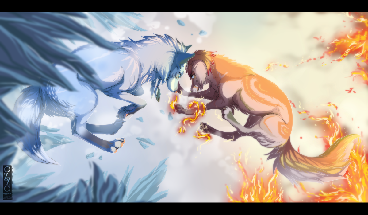 com_ice and fire by azzai