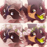 double icons   Vagabond and Calvin by azzai