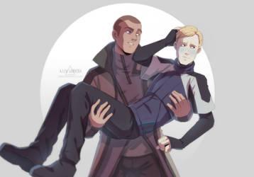 fanart | Markus and Simon by azzai