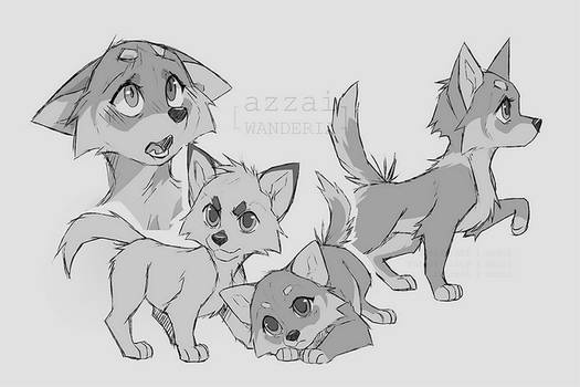 Azzai and Arthemis pups