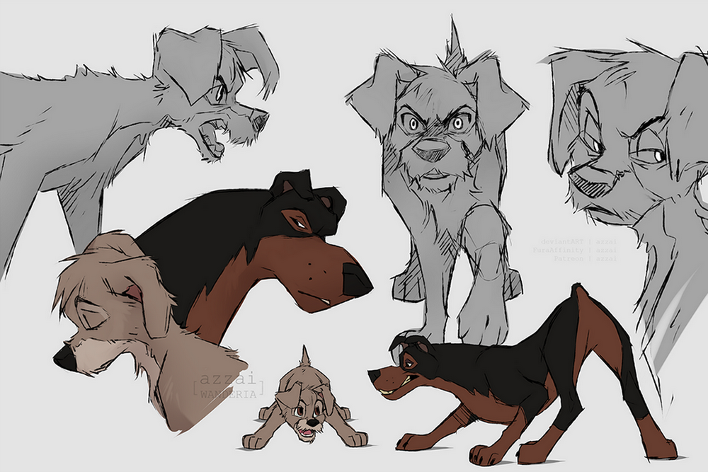 Scamp Buster sketches