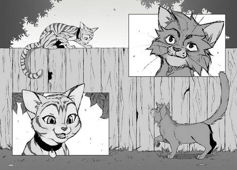 Warrior Cats ZINE sketch   our meeting