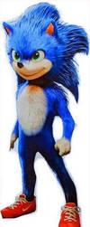 Movie Sonic's full body by alvaxerox
