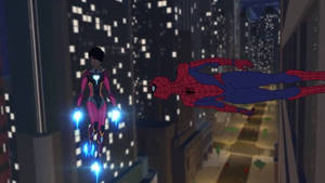 Iron Heart and Spider-Man