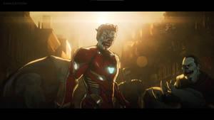 Zombie Iron Man, Doctor Strange and Wong