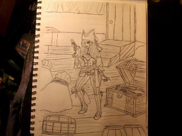 Trisha Bougard ink sketch by Lycan-metal