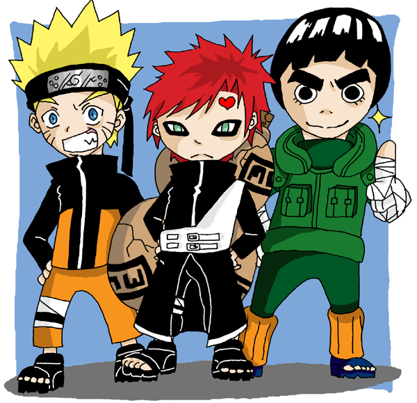 Naruto.Gaara.Lee Chibi by Kyuujutsuka on DeviantArt Gaara And Lee