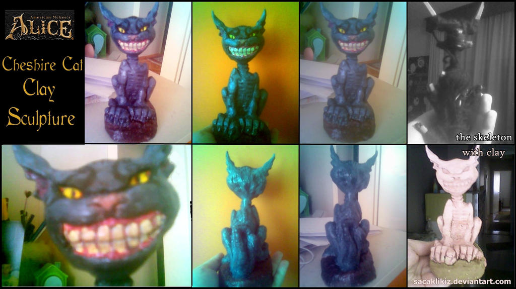 Cheshire Cat Sculpture - American McGee's Alice by sacaklikiz