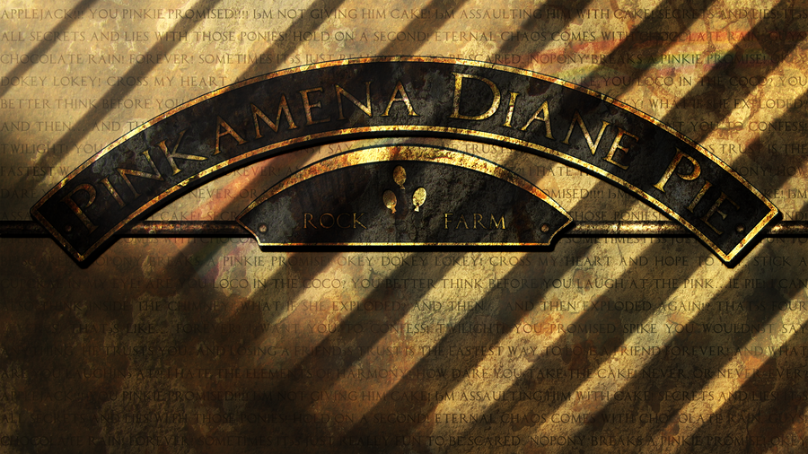 Pinkamena Diane Pie - rusted sign by pims1978