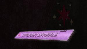 Plaque - Twilight Sparkle