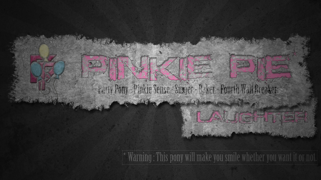 Pinkie Pie - warning banner by pims1978
