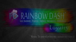 Rainbow Dash - warning banner