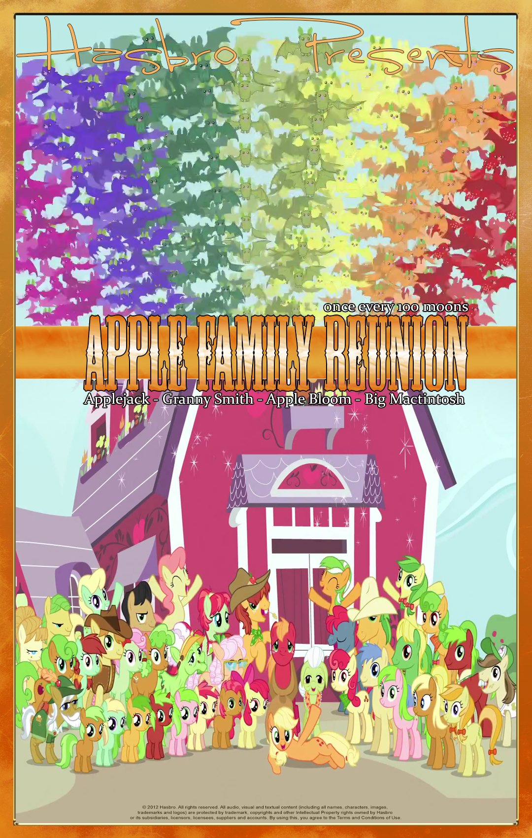 MLP : Apple Family Reunion - Movie Poster by pims1978