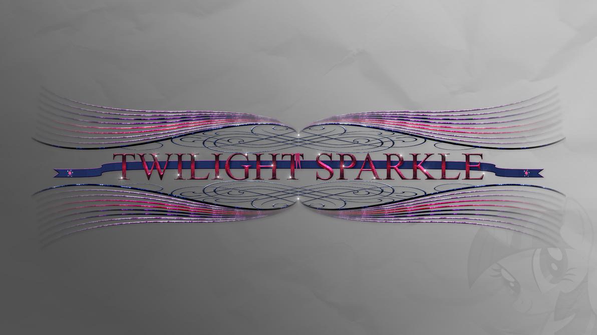 Wallpaper : Twilight Sparkle - designed Logo by pims1978