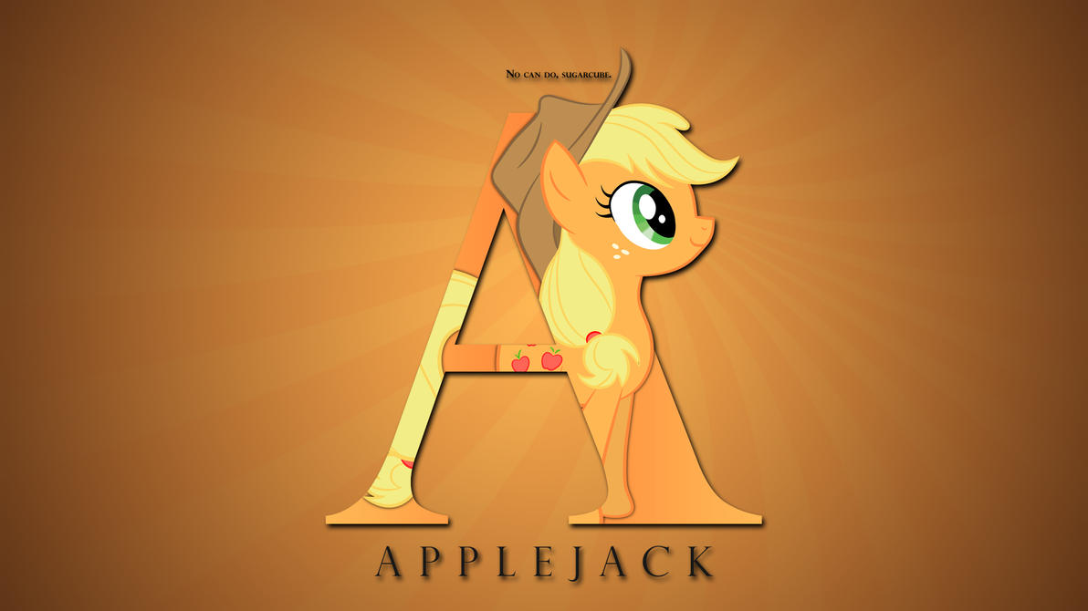 Wallpaper : Letters - Applejack by pims1978