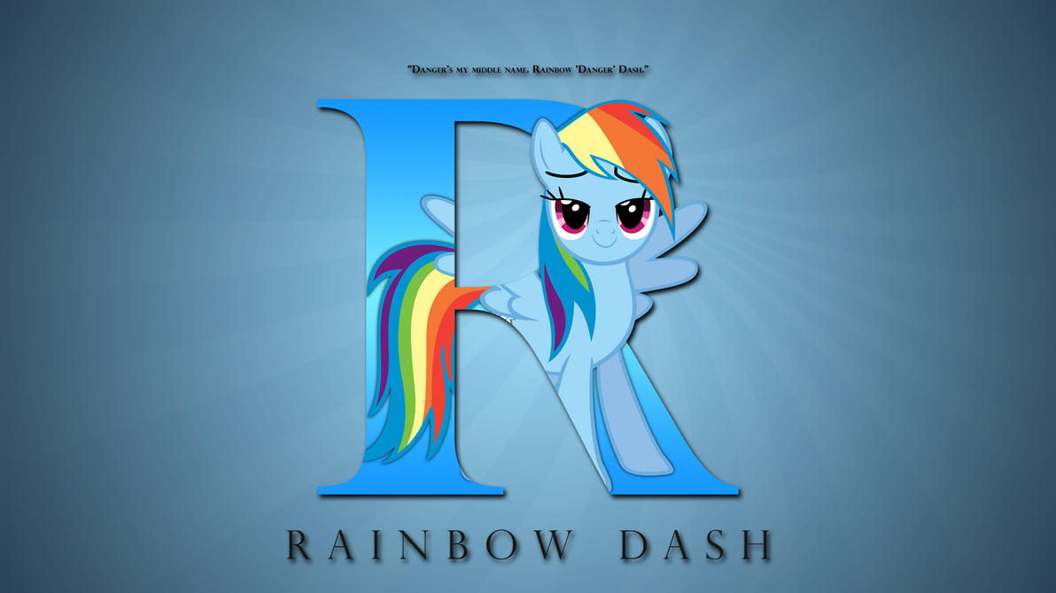 Wallpaper : Letters - Rainbow Dash by pims1978