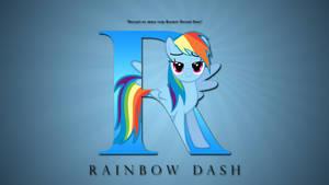 Wallpaper : Letters - Rainbow Dash