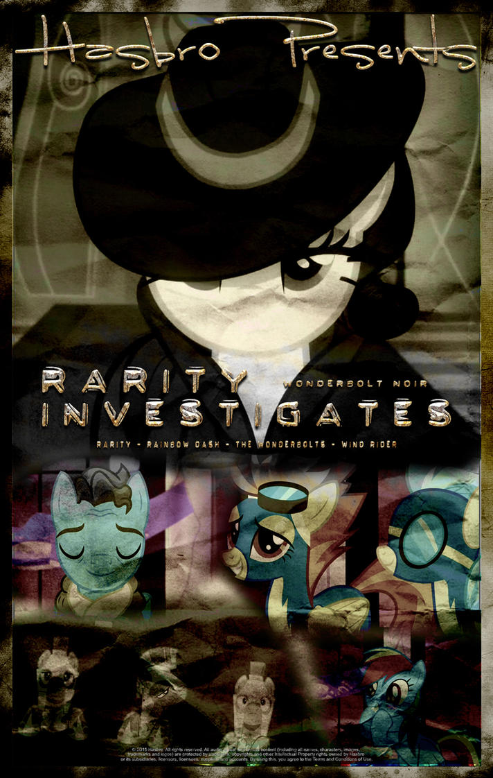 MLP : Rarity investigates - Movie Poster by pims1978