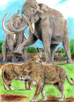 Prehistoric Safari: Pleistocene La Brea,California by Jagroar