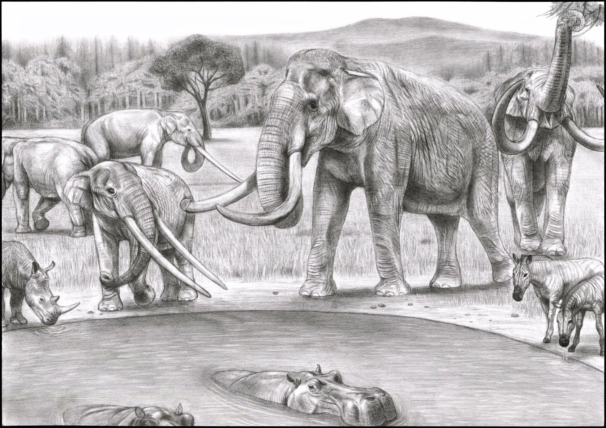 Prehistoric Safari Pliocene Southern Europe By Jagroar