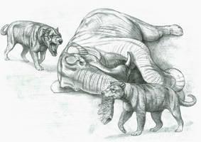 Prehistoric Safari : Miocene's Giant Bone Crackers by Jagroar