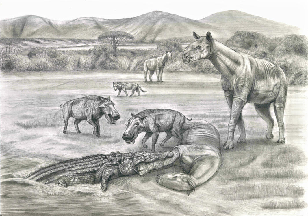 cenozoic animals coloring pages - photo#10
