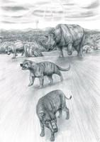 Prehistoric Safari :Eocene's Thunder Beast charges