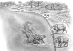 Prehistoric Safari : The Purussaurus-Attack! by Jagroar