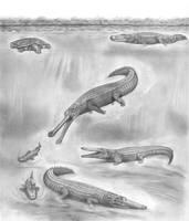 Prehistoric Safari : Super Crocodilians' heaven by Jagroar