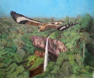 Prehistoric Safari : the Mightiest Eagle soaring by Jagroar