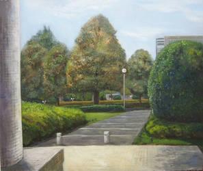 Landscape oil painting by Jagroar