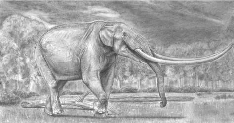 Four Tusker Mastodon from the Pliocene America by Jagroar