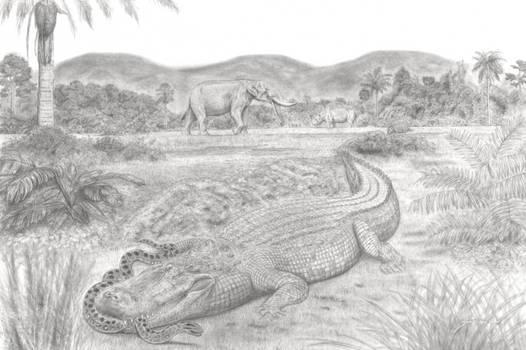 Purussaurus' attack! + Amahuacatherium Mystery