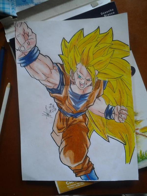 Goku Ssj3 By Coracao De Grafite On Deviantart
