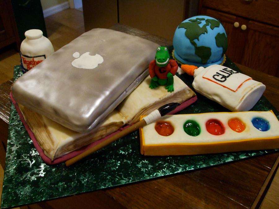 Back to School Cake by ArtsyLady