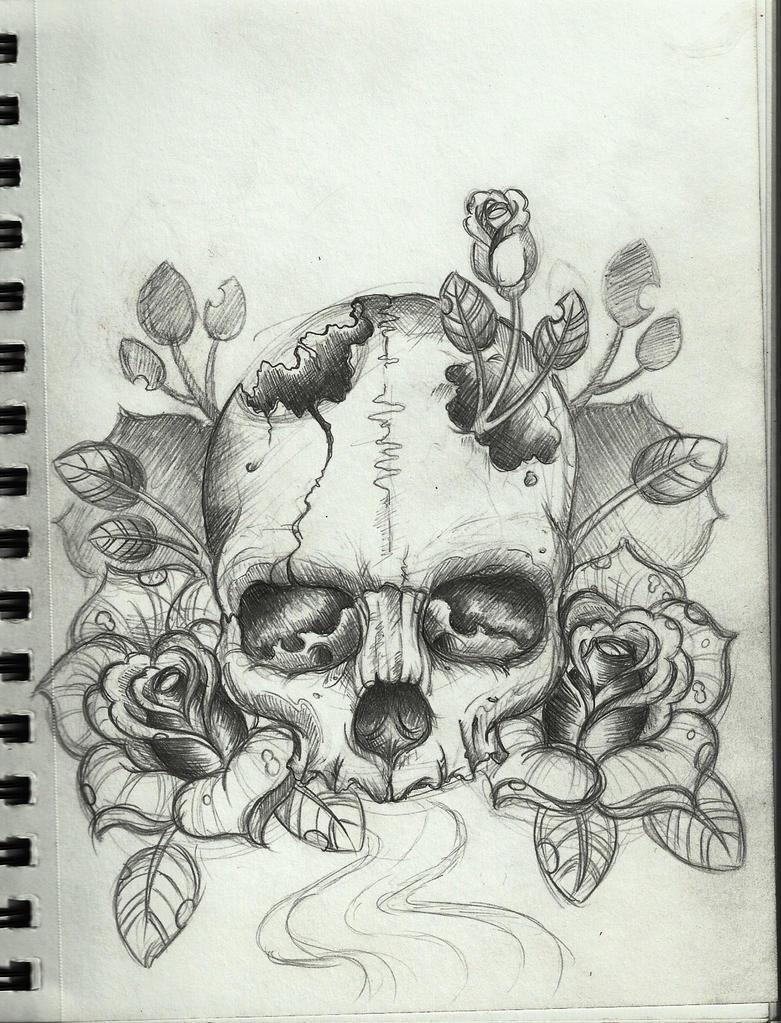 skull tattoo design by frosttattoo on deviantart. Black Bedroom Furniture Sets. Home Design Ideas