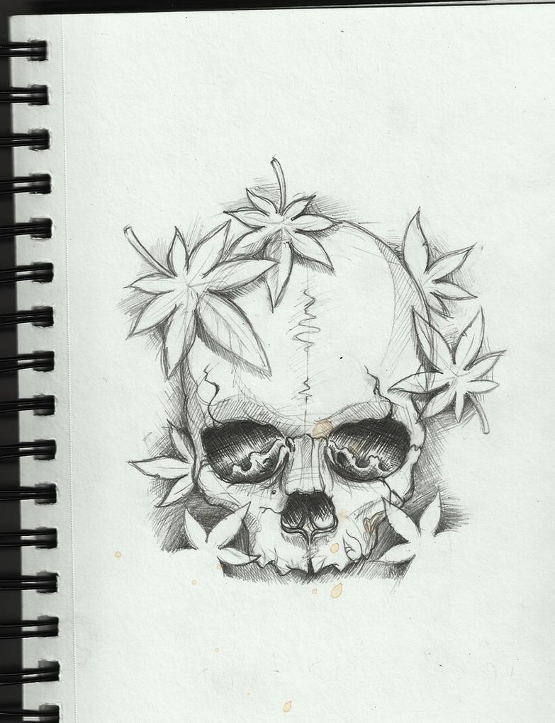 Easy Skull Tattoo Designs For Beginners Drawn Tattoo Beginner