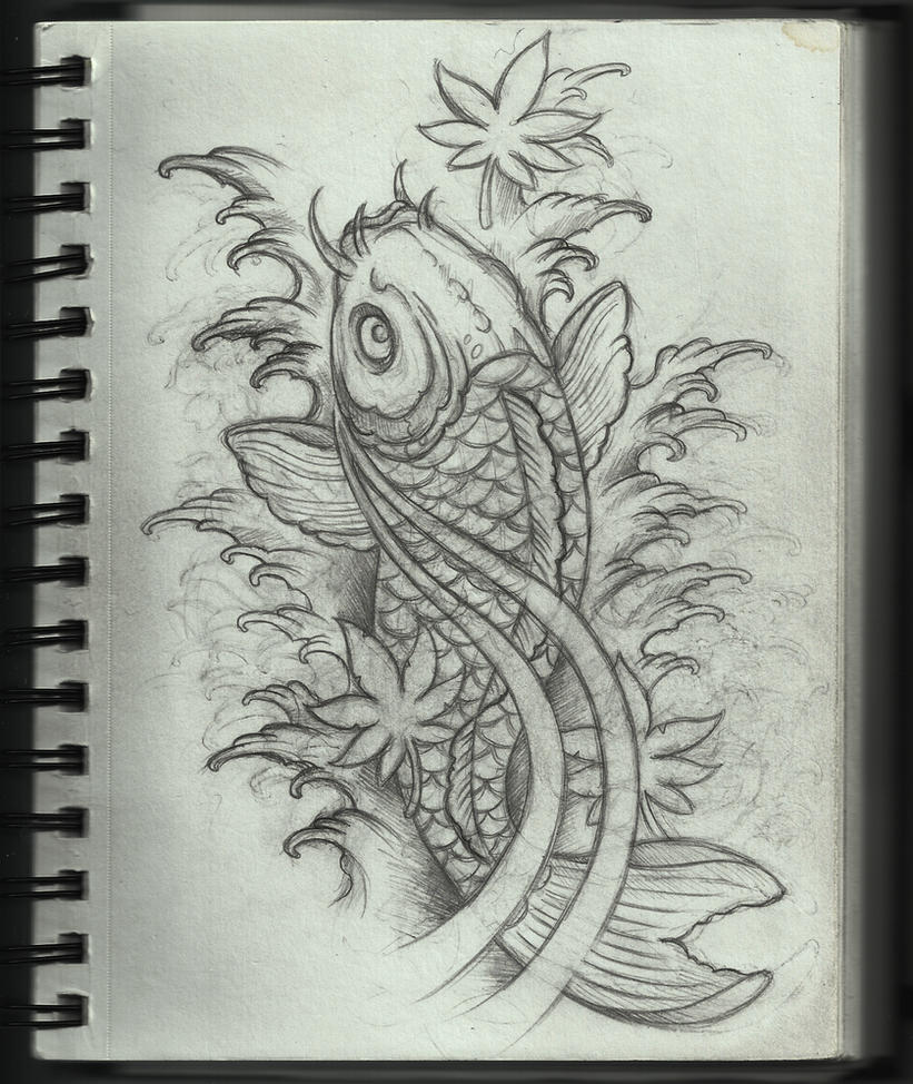 Koi Tattoo Design by Frosttattoo